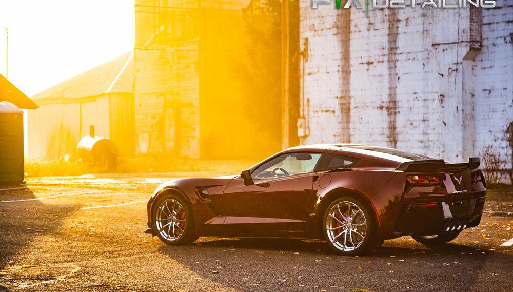 FTA Detailing Corvette Maroon Sun