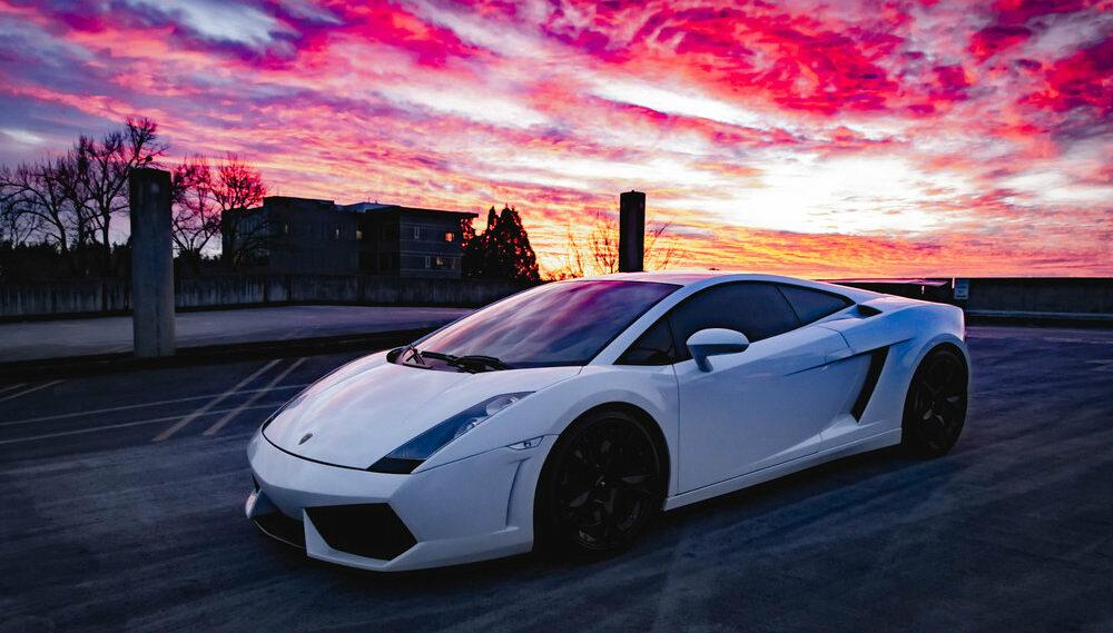 FTA Detailing Lamborghini Exterior Sunset