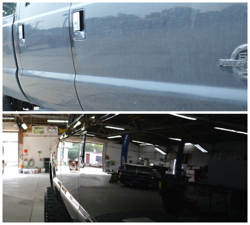FTA Detailing Ford F350 Before After