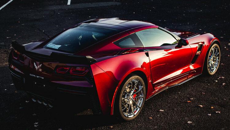 FTA Detailing Corvette Maroon Behind
