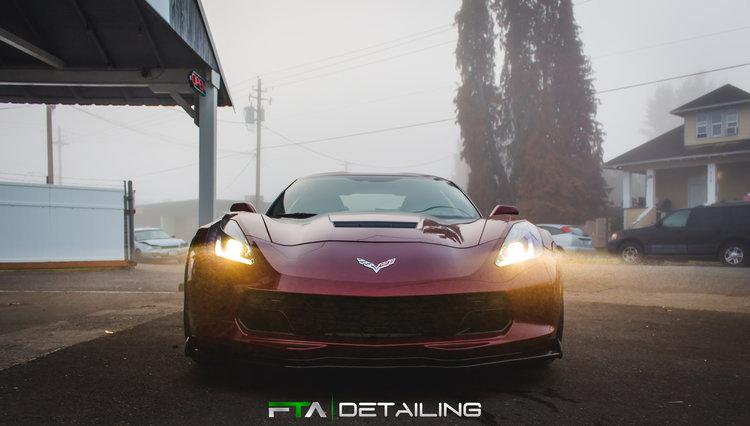 FTA Detailing Corvette Maroon Fog