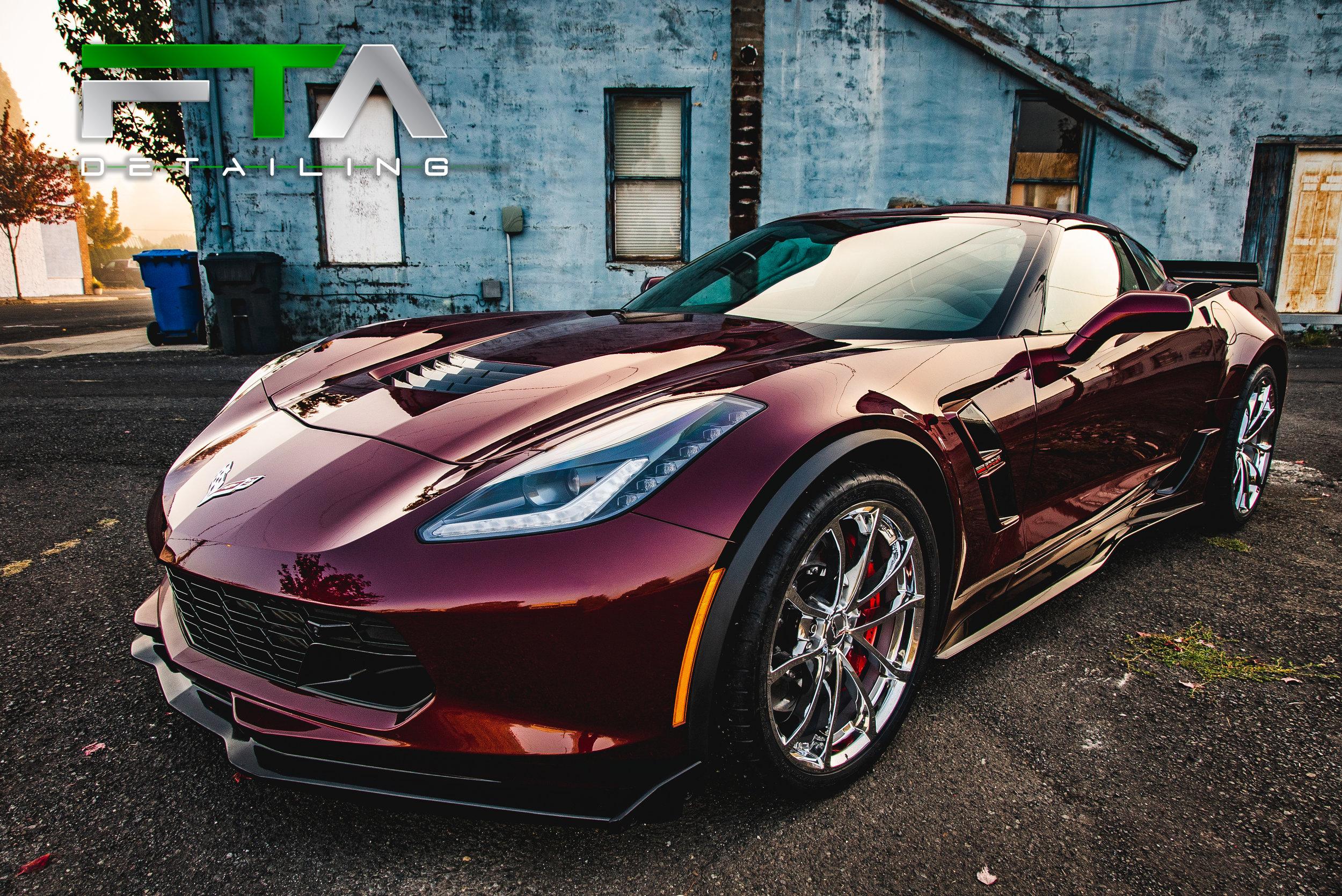 FTA Detailing Corvette Maroon Large