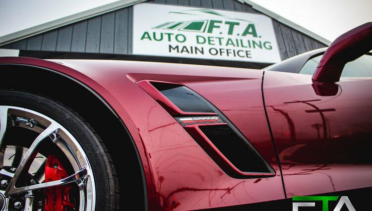 FTA Detailing Corvette Maroon Main Office