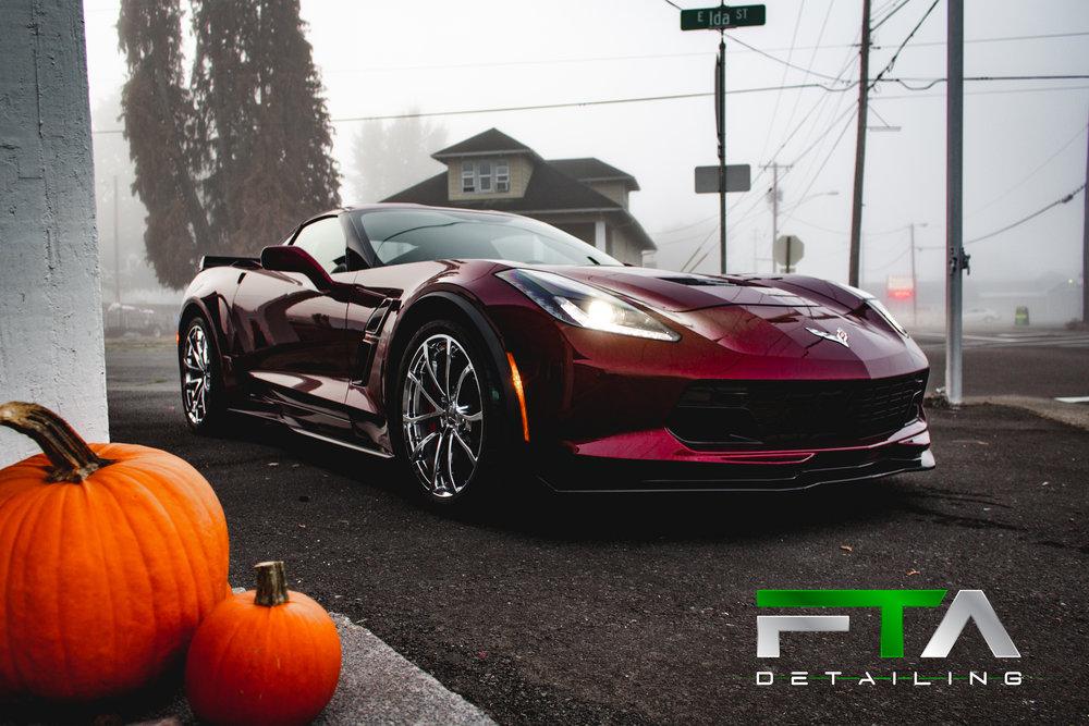 FTA Detailing Corvette Maroon Pumpkins