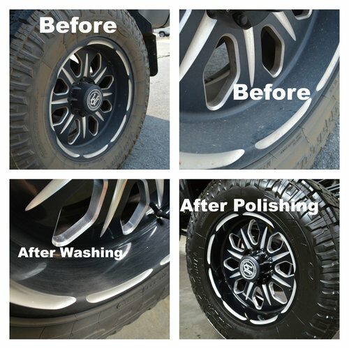 FTA Detailing Ford F350 Tires Before After